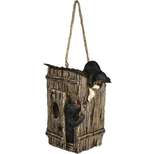 - River's Edge Products Outhouse with Bears Birdfeeder