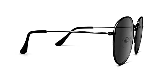 0b6deed9ebe9 Glassy Pierce High Roller Polarized Round Sunglasses in Black at Amazon  Men's Clothing store: