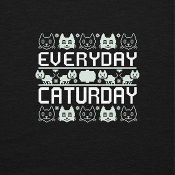 TEXLAB - Everyday Caturday - Damen Kapuzenpullover, Größe S, schwarz