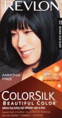 Revlon Colorsilk Beautiful Haircolor, Ammonia-free, Permanent Haircolor (Pack of 4) (#12 Natural Blue Black) by Revlon
