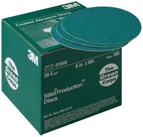 3M Green Corps Stikit Production Disc 01551, 8'', 36E, 50 discs/bx (3M-1551)