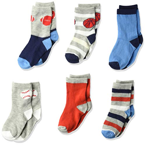 Rene Rofe Baby Baby Boys Toddler Kids Newborn and Infant 6 Pack Socks