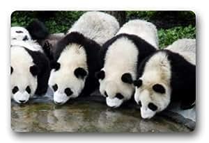 Standard-Store Custom Cute Pandas Drinking Water doormat