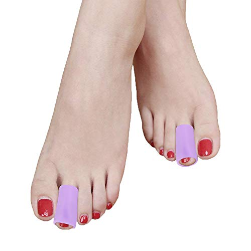 Gel Toe Protector, Povihome Toe Tubes Gel 10 Pieces for Women & Man- Corns and Calluses Silicone Toe Sleeves
