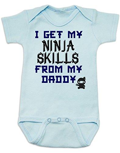 Suit Ninja Blue (Vulgar Baby Bodysuit, Daddy Ninja Skills, 3-6 MO,)