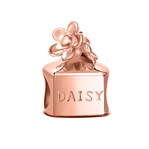 "NinaQueen 925 Sterling Silver ""Daisy Perfume"" Bottles Pandöra Mom Charms For Woman Birthday Gifts For Her Anniversary Mothers Day Gifts For Wife Mom Daughter Girls Friends Granddaughter Kids"