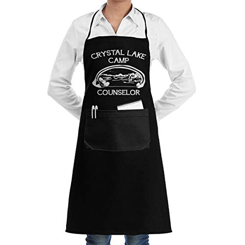- CZD76 Camp Crystal Lake Counselor Unisex Aprons for Women Men Chef Apron for Cooking Apron Pockets