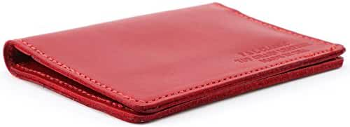 Top Grain Leather Slim Card Holder Wallet - Thin Minimalist Design,Made In USA