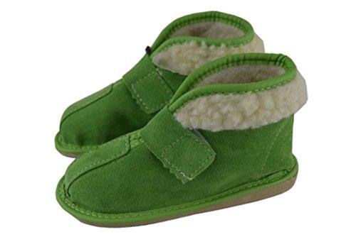 Natleat Slippers , Jungen Hausschuhe, rot - grün - Größe: 30 EU