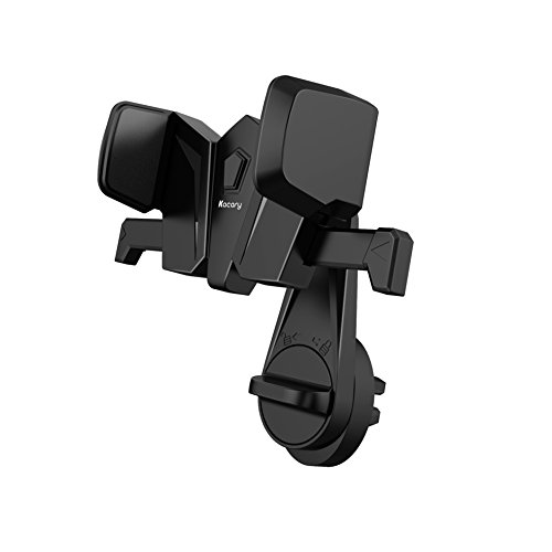 Kacary Car Phone Mount, Universal Air Vent Cell Phone Holder ( Cable Clips, One Touch Lock, One Click Quick Release, 360 Degree Rotatable Cradle & Arm) for iOS / Android Smartphone and More