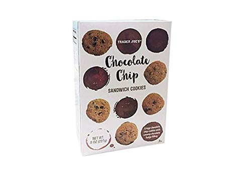 Trader Joe#039s Chocolate Chip Sandwich Cookies with Creamy Fudge Filling 227g 1 Pack