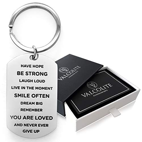 Key Chains by Valcolite - Best Unique Inspirational Gifts for Women Men (Best Grandma Key Chains)