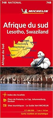 Carte Afrique Du Sud Michelin.Amazon Fr Carte National Afrique Du Sud Michelin