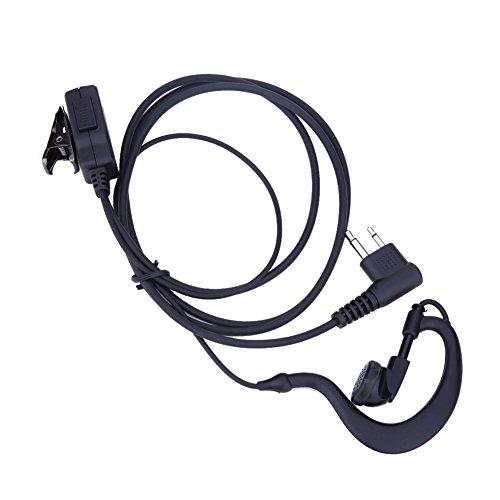 (2-Pin Earpiece Headset Mic PTT for Motorola CB Radio CP88 CP040 CP100 CP110,Holyfly)