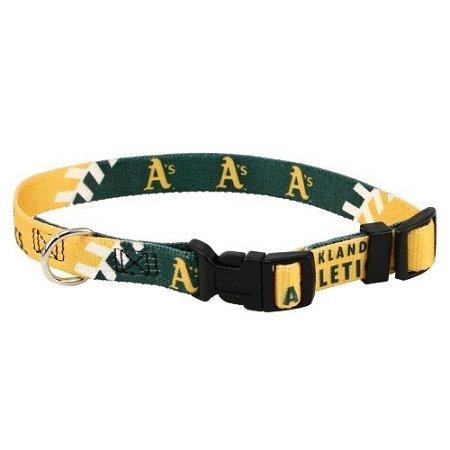 Hunter Mfg DN-310511-M Oakland Athletics Dog Collar - Medium