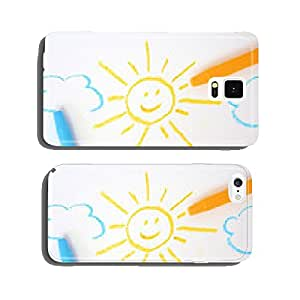 Sun and cloud drawing cell phone cover case iPhone6 Plus