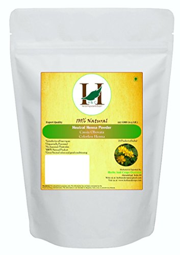 H&C 100% Pure Natural Organically Grown Neutral Henna Powder / Colorless Henna / Senna Powder / Cassia Obovata (227g / (1/2 lb) / 8 ounces) For conditioning your hair without coloring. ()