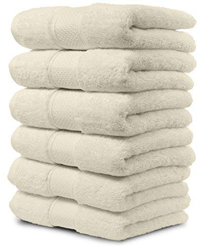 - 6 Piece Hand Towel Set. 2017(New Collection) Premium Quality Turkish Towels. Super Soft, Plush and Highly Absorbent. Set Includes 6 Pieces of Hand Towels. By Maura. (Hand Towel - Set of 6, Cream)
