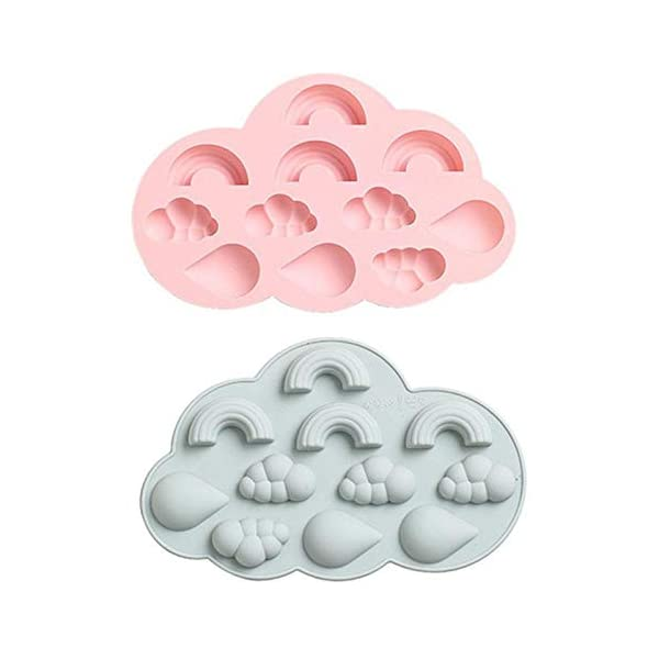 UMTGE - Vaschetta per cubetti di ghiaccio, in silicone e flessibile, 11 vassoi per ghiaccio, per bambini, con caramelle… 3 spesavip