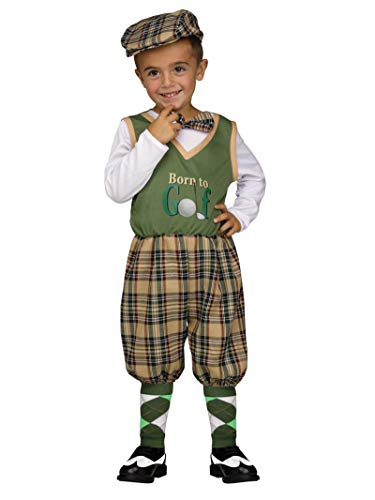 Golf Channel Halloween Costumes (Fun World Boys' Toddler Li'l Golfer, Multi,)