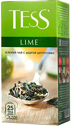 [2 PACK] Green tea TESS Lime Citrus Peel Beverages Grocery Gourmet Food [25 tea bags in 1 PACK]
