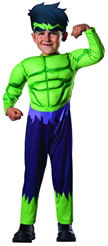 Spiderman Costumes For Toddler Boys (Rubie's Costume Baby Boy's Marvel Classics Avengers Assemble Muscle Chest Hulk, Multi, Toddler)