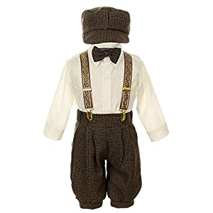 iGirlDress Vintage Dress Suit-Tuxedo Knickers Outfit Set Baby Boys & Toddler