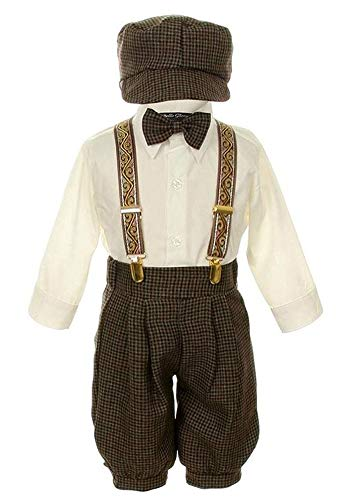 - iGirlDress Vintage Dress Suit-Tuxedo Knickers Outfit Set Baby Boys & Toddler 6mos Taupe/Ivory