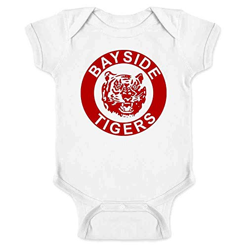 Bayside Tigers 90s Retro Halloween Costume White 6M Infant Baby Boy Girl Bodysuit