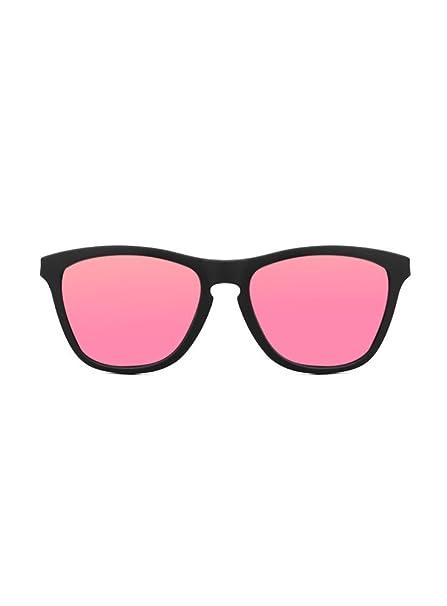 KOALA BAY - Gafas de Sol Palm Beach Negro Mate Lentes Rosa