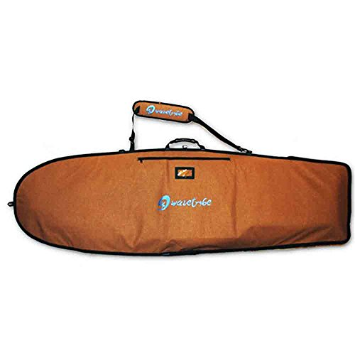 Wave Tribe Boardbag - Mini Simmons Bag - Fish Surf Board Bag - Hybrid - Retro Surfboard Bag Eco Hemp Day Board Bag (Brown, 5'10, One Surfboard) - Green Brown New Wave