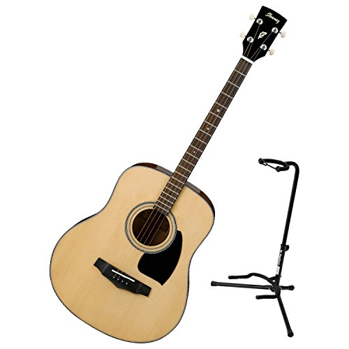 Ibanez PFT2NT Natural High Gloss PF Performance Series Tenor Acoustic Guitar w/ Stand