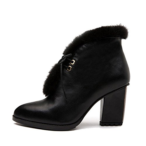 Alla nero con alti lungo donna tacchi wdjjjnnnv moda alti con peluche scarpe   4f7feb