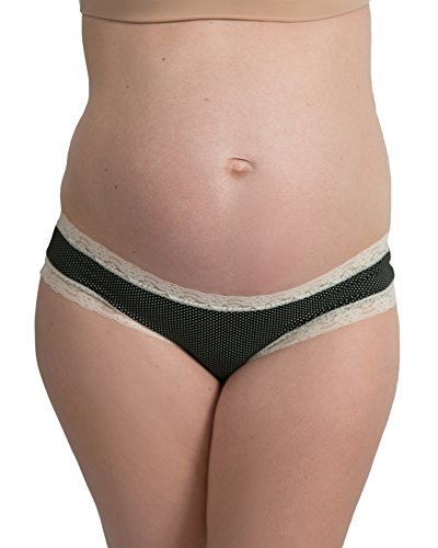 Kindred Bravely Under The Bump Lace Trim Maternity Underwear/Pregnancy Panties (Large, Assorted, 3 Pack) by Kindred Bravely