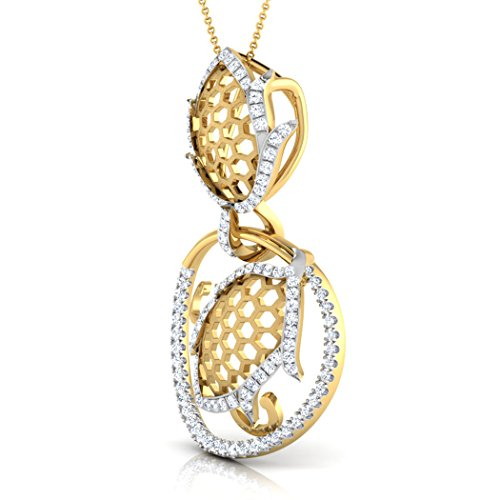 Or blanc 14K 0.41carat au total Round-cut-diamond (IJ   SI) Pendentif