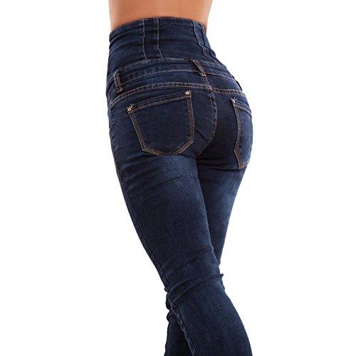 Donna Vita Blu Sigaretta Nuovi Elastici Jeans Toocool Dy1126 Alta Pantaloni Skinny Aderenti Up5CIq