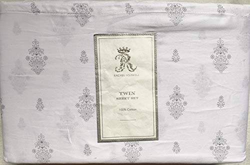 Rachel Ashwell Sheets - Rachel Ashwell Simply Shabby Chic White Gray Chandelier Cotton Sheet Set (Queen)