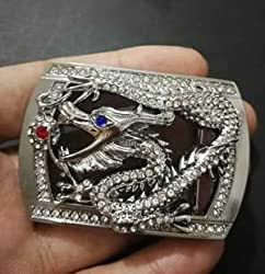 Stone Studded Dragon Belt Buckles