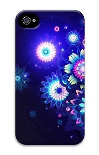 3D Hard Plastic Case for iphone 6 plus 5.5 G,Neon Flower Case Back Cover for iphone 6 plus 5.5