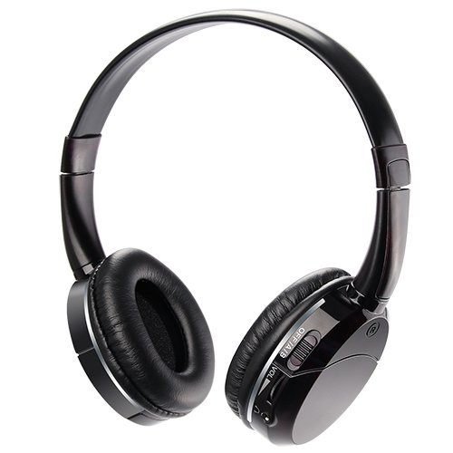 Infrared Wireless Headphones IR Headset for Car DVD Player 2 Channel Kids Size Black