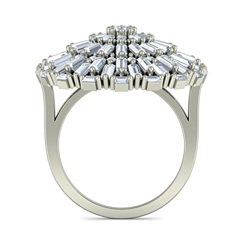 18 K Or Blanc, 3.1 CT TW sertie d 'Diamant (IJ | SI) Cocktail en diamant