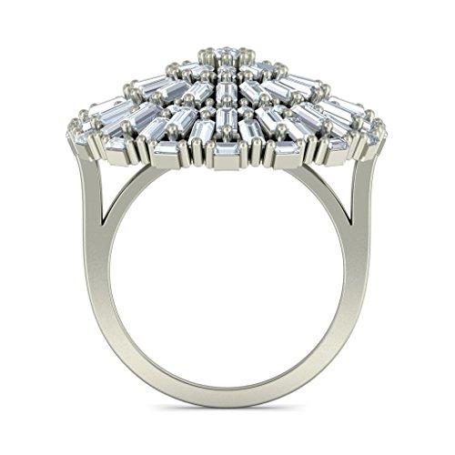 18K Or Blanc, 3.1CT TW sertie d 'Diamant (IJ | SI) Cocktail en diamant
