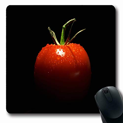 Ahawoso Mousepads for Computers Juice Green Vegetable Tomato On Black Food Drink Red Fruit Appetizer Dinner Large Plant Drop Oblong Shape 7.9 x 9.5 Inches Non-Slip Oblong Gaming Mouse Pad -