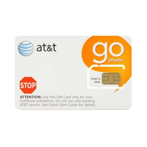 AT&T ATT GoPhone Sim Card No Contract Required
