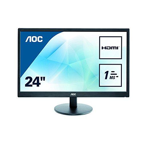 AOC 23.6 inch 1 ms Response Time LED Monitor, HDMI, DVI, VGA, Speakers,...