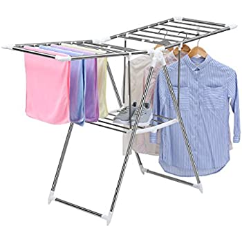 Finether Folding Gullwing Drying Rack, Clothes Airer, Clothes Horse, Cloth  Dryer Stand For