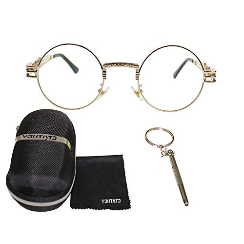 Sports Climbing Fashion UVA Driving Women UV400 Lens Outdoor Mirror UVB Anti Frame Lens Eyewear Sunglasses Crystal Party Men Indoor Round HD Travelling gold Protection Frame For Metal Polarized Sunglasses Decorations Fishing 6wS4Waq
