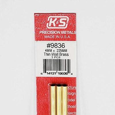 K /& S Precision Metals 9834 3 X.225MM BRASS WALL