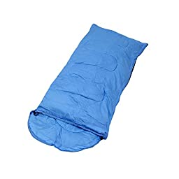 Plixio Boy and Girl Kids Sleeping Bags - Pink or Blue Slumber Bag with Carry Bag - 70\