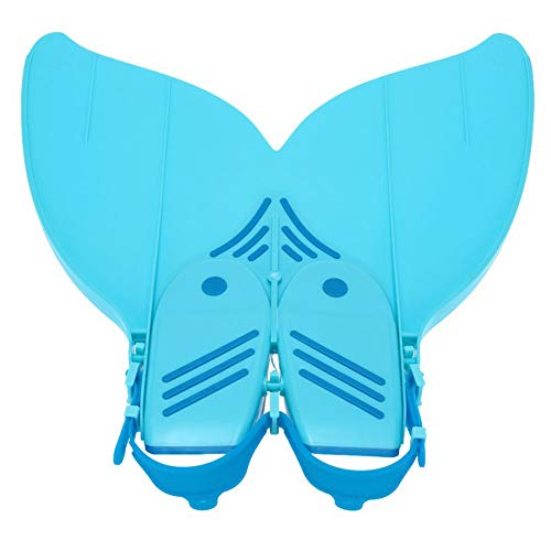 LOVEJIE Youth Children Girl Boy Diving Mermaid Tails Monofin Flippers Swimming Costume (Color : Blue, Size : S)